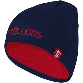 TROLLKIDS Troll Beanie Kinder bright red/mystic blue